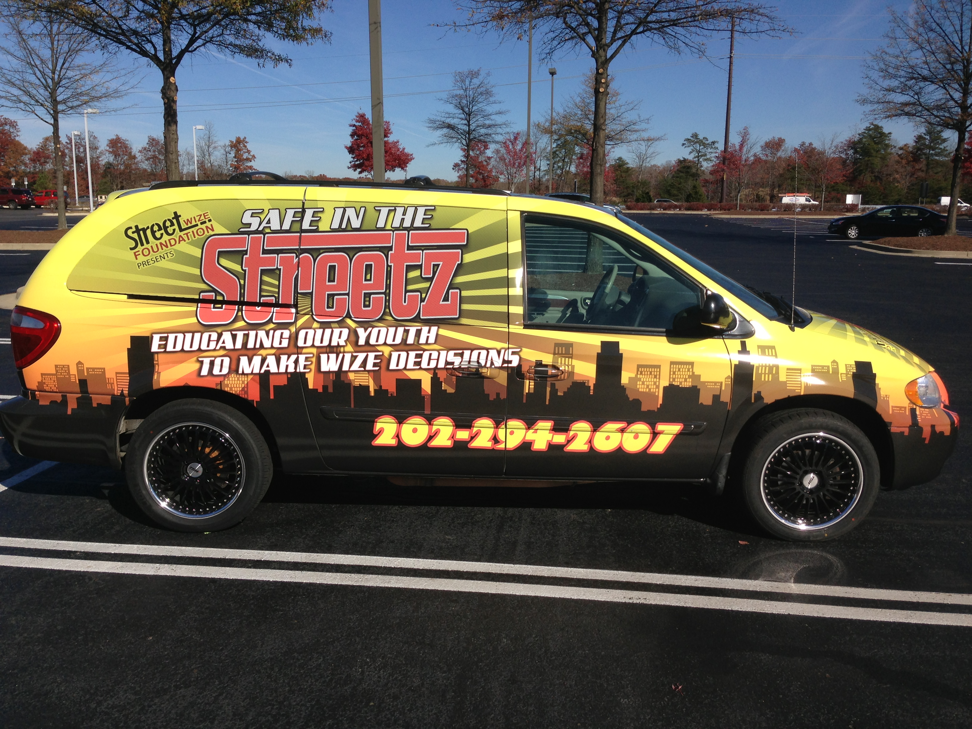 Check Out Street Wize Foundation's New Safe in the Streetz Outreach Van!!