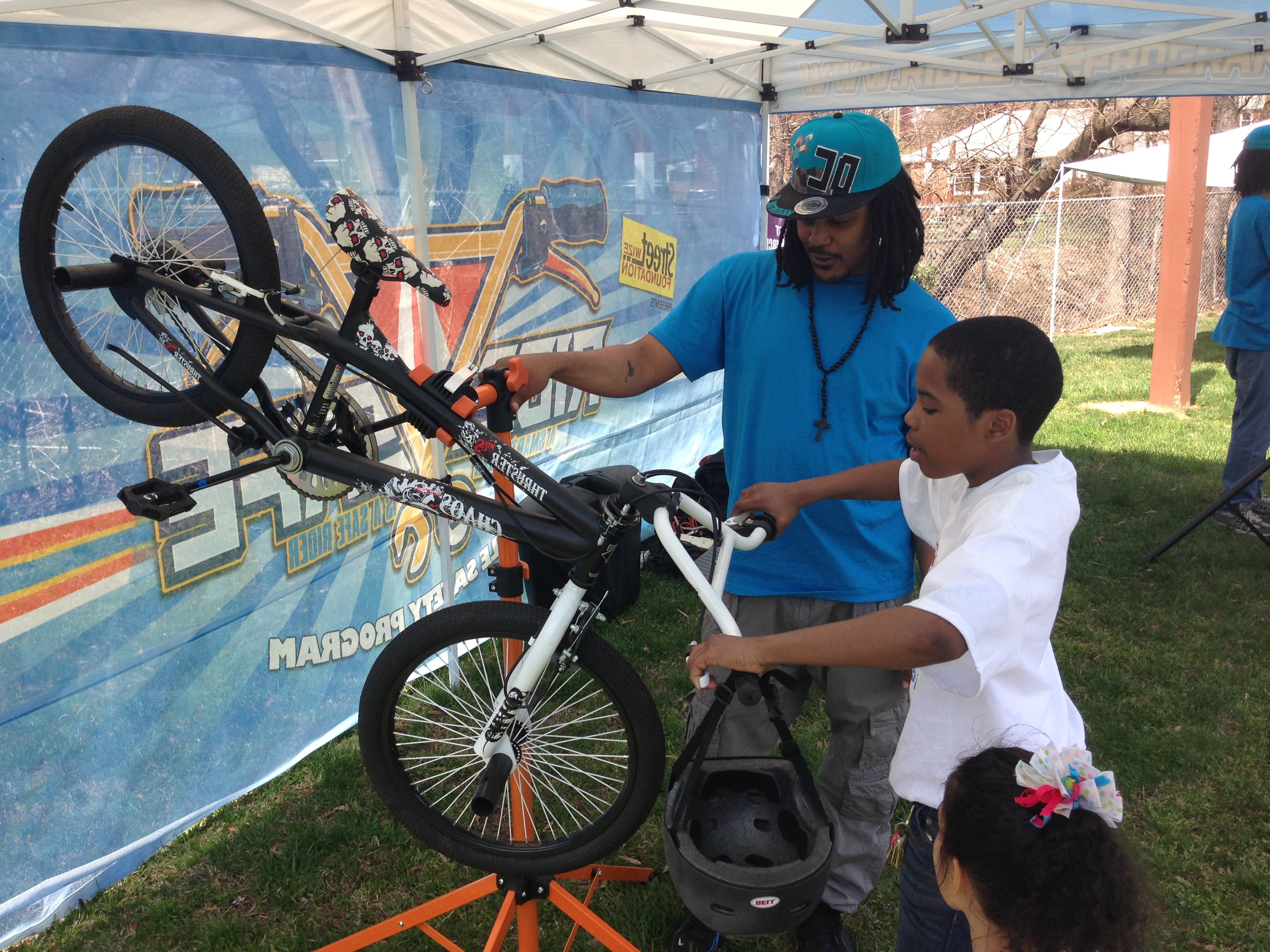 Street Wize Foundation's Ride Safe Youth Bicycle Safety Program was at the Capital Heights Community Day Event showing youth basic bicycle safety.
