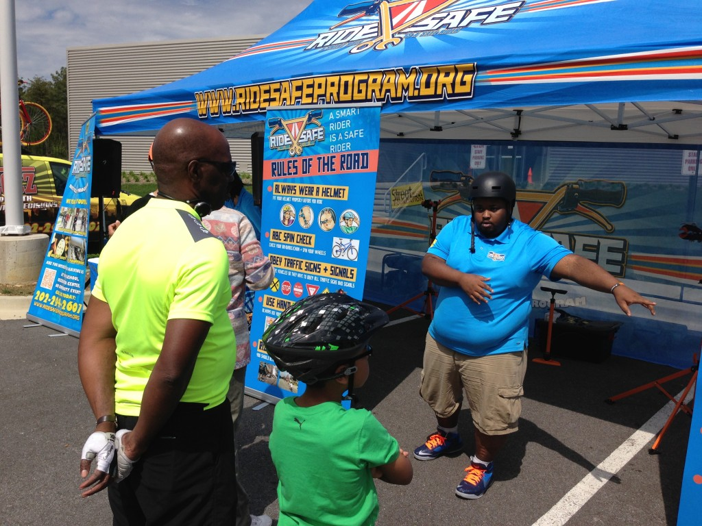 Street Wize Foundation's Ride Safe Bicycle Safety Program Team was at the Prince George's County Council Member Obie Patterson of District 8 Community Bike at the Tech Rec Center in Ft Washington MD